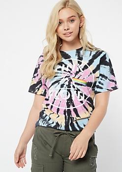 Rainbow Tie Dye Pink Floyd Graphic Tee