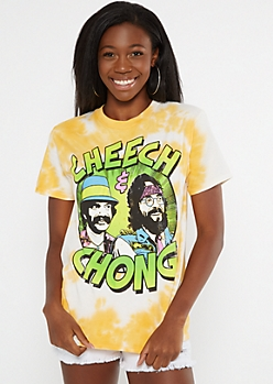 Yellow Tie Dye Cheech And Chong Graphic Tee