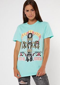 Mint Guns N Roses World Tour Graphic Tee
