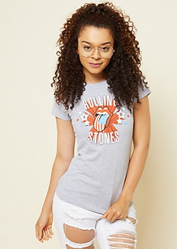 Heather Gray Rolling Stones 1969 Graphic Tee