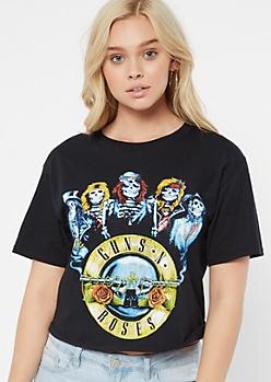 Black Skeleton Guns N Roses Graphic Tee