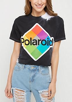 Polaroid Tie Dye Crop Tee