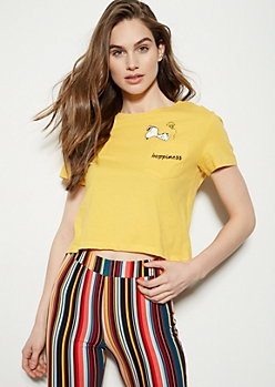 Yellow Snoopy Happiness Graphic Tee