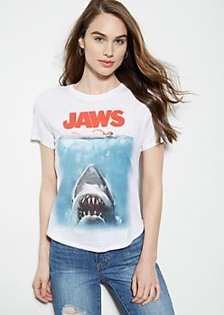 White Jaws Short Sleeve Graphic Tee