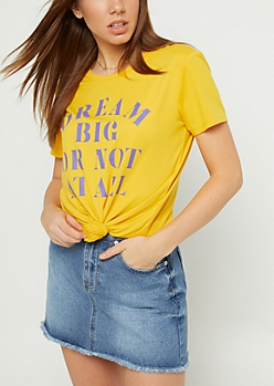 Mustard Dream Big Super Soft Tee
