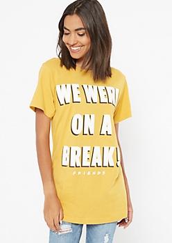 Mustard On A Break Friends Graphic Tee