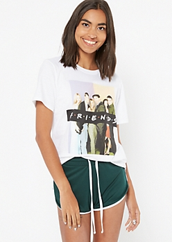 White Photo Friends Graphic Tee