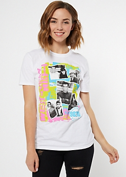 White 90210 West Beverly High Graphic Tee