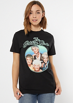 Black Photo Golden Girls Graphic Tee