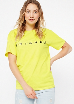 Neon Yellow Friends Graphic Tee