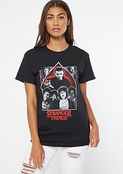Black Stranger Things Eleven Graphic Tee