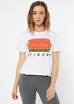 White Couch Friends Graphic Tee