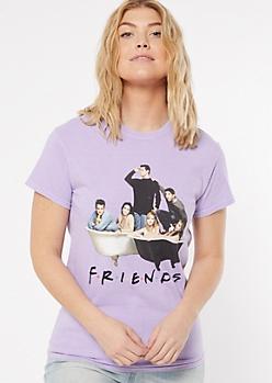 Purple Friends Bathtub Graphic Tee