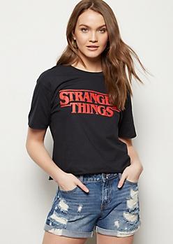 Black Stranger Things Graphic Tee