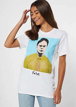 White False Dwight Graphic Tee