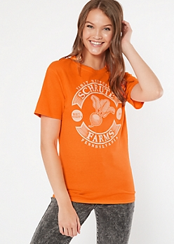 Neon Orange Shrute Farms Graphic Tee