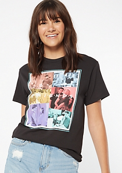 Black Photo Collage Friends Graphic Tee