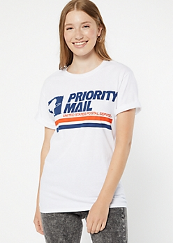 White USPS Graphic Tee