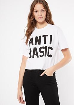 White Anti Basic Graphic Tee