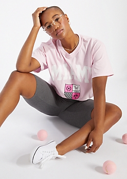 Light Pink Miami Crest Graphic Tee