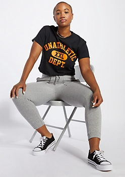 Black Unathletic Dept Cropped Tee