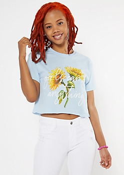 Girls Can Do Anything Boxy Graphic Tee
