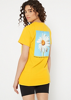 Yellow No Rain No Flowers Graphic Tee