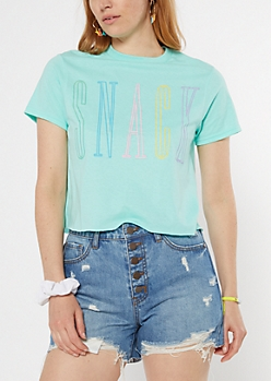 Mint Snack Short Graphic Tee