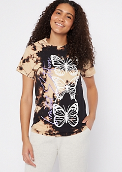 Bleach Dye Limited Edition Butterfly Graphic Tee