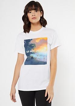 White Do Not Disturb Beach Graphic Tee