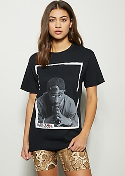 Black Outlined Poetic Justice Graphic Tee