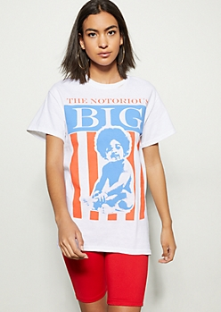 White Notorious Big Baby Graphic Tee