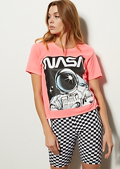 Neon Pink NASA Graphic Tee