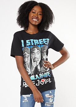 Black Poetic Justice Street Romance Graphic Tee