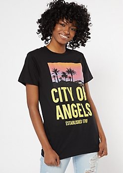 Black City Of Angels Graphic Tee