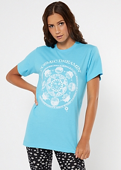 Blue Cosmic Dreamin Graphic Tee