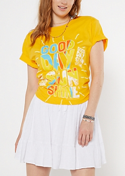 Yellow Good Day Sunshine Graphic Tee