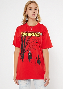Red Chilling Adventures of Sabrina Graphic Tee