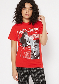 Red Poetic Justice Graphic Tee