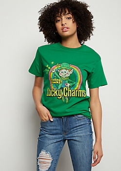 Green Lucky Charms Graphic Tee