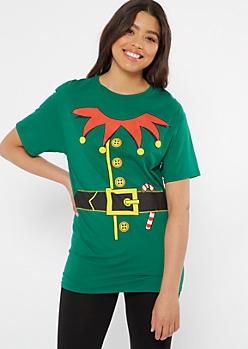 Green Elf Suit Graphic Tee