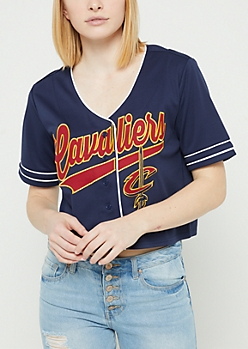Cleveland Cavaliers Cropped Baseball Jersey