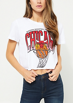 Chicago Bulls Hot Shot Knit Crop Top