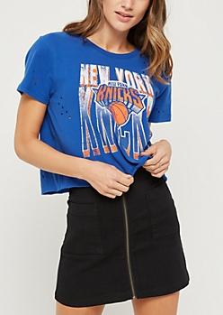 New York Knicks Distressed Cutoff Tee