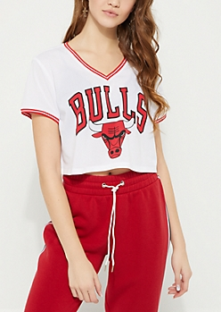 Chicago Bulls Jersey Crop Top