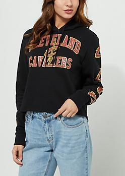 Cleveland Cavaliers Foil Cropped Hoodie