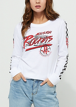 Houston Rockets Checkered Sleeve Tee