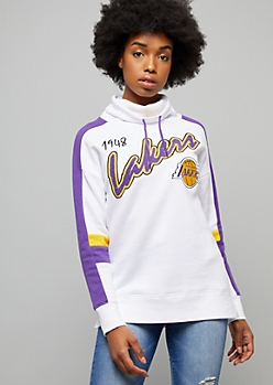 NBA Los Angeles Lakers White Chenille Patch Sweatshirt