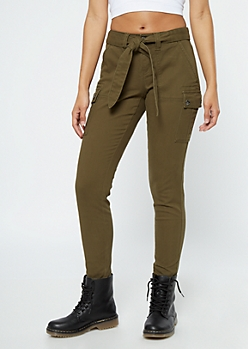 Olive Utility Pocket Cargo Pants