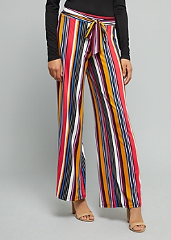 Bright Striped High Waisted Wide Leg Pants